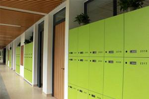 领科教育上海校区教学走廊