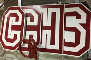 美国蓝带加州汇点高中logo