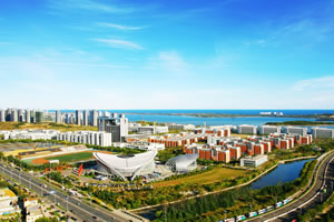 中国石油大学出国留学校园环境办公楼