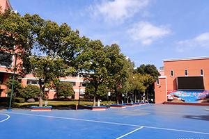上海罗斯德国际高中篮球场