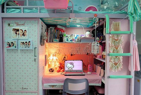 艺术院校女生宿舍装扮风格 美极了