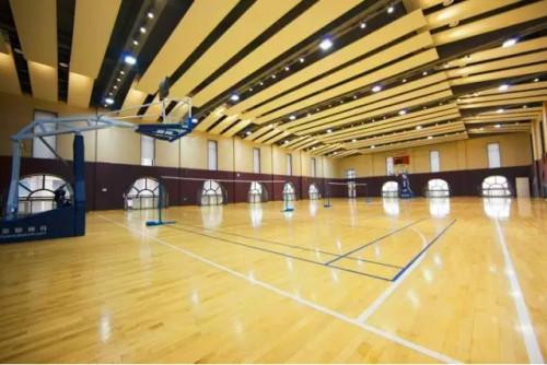 学校拥有高端一流的现代化教学设施,  教学楼,游泳馆,体育活动中心