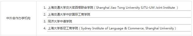 盘点上海地区中外合作办学硕士项目