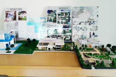 昌航科院举办环境艺术设计专业建筑模型作品展