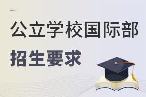 北京公立学校国际部(国际高中)招收什么样的学生?