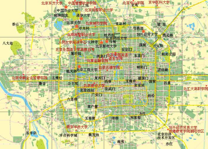 北京城区地图全图大图展示